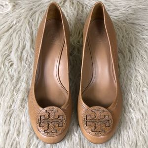 Tory Burch leather Tan Wedge